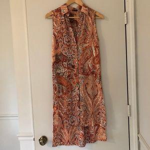 Boho Flow - Draped layering long paisley vest